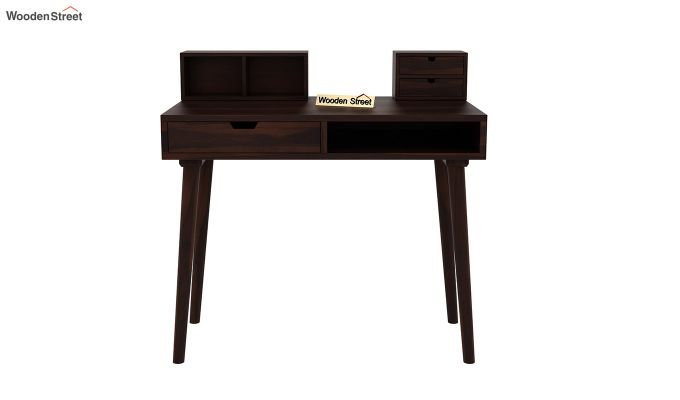 Lynton Study Table with Table-Top Storage (Walnut Finish)-3