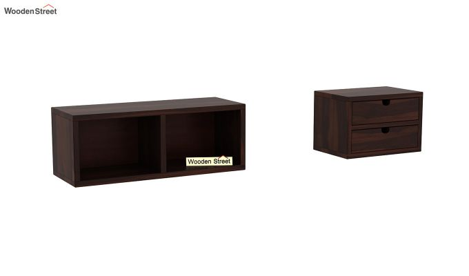 Lynton Study Table with Table-Top Storage (Walnut Finish)-6