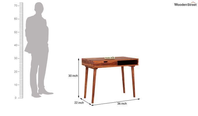 Lynton Study Table (Honey Finish)-5