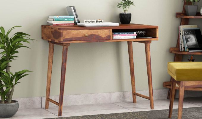 Lynton Study Table (Teak Finish)-1