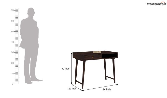 Lynton Study Table (Walnut Finish)-6