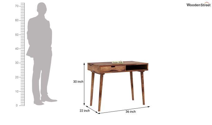 Lynton Study Table (Teak Finish)-5