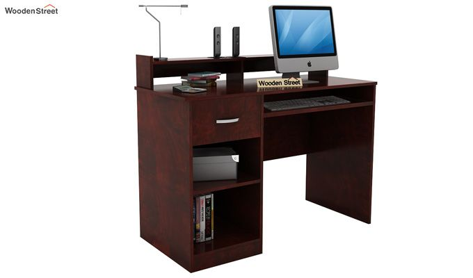 Madoc Computer Table (Mahogany Finish)-1