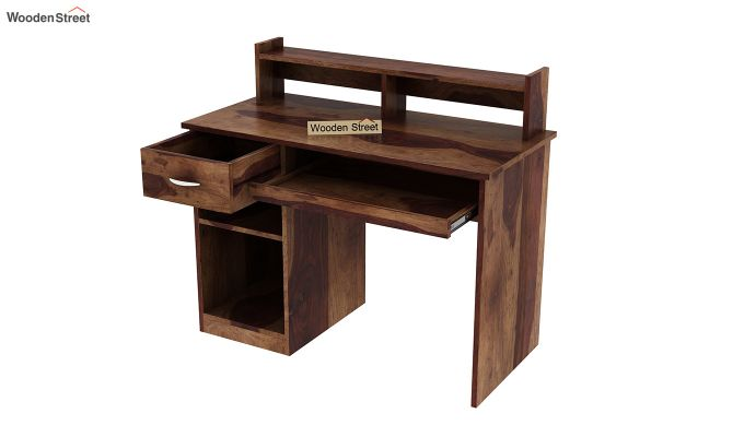 Madoc Computer Table (Teak Finish)-4