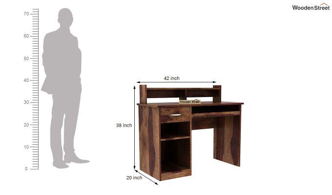 Madoc Computer Table (Teak Finish)-6