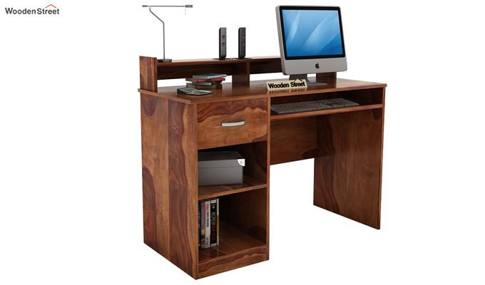 Madoc Computer Table (Teak Finish)-2