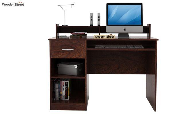 Madoc Computer Table (Walnut Finish)-2