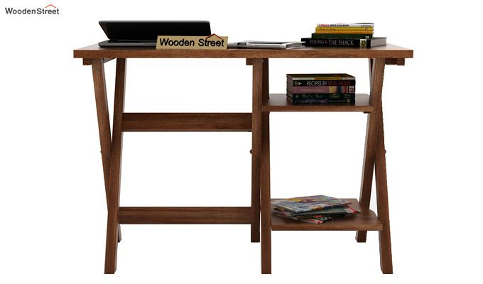 Mathers Study Table (Teak Finish)-2