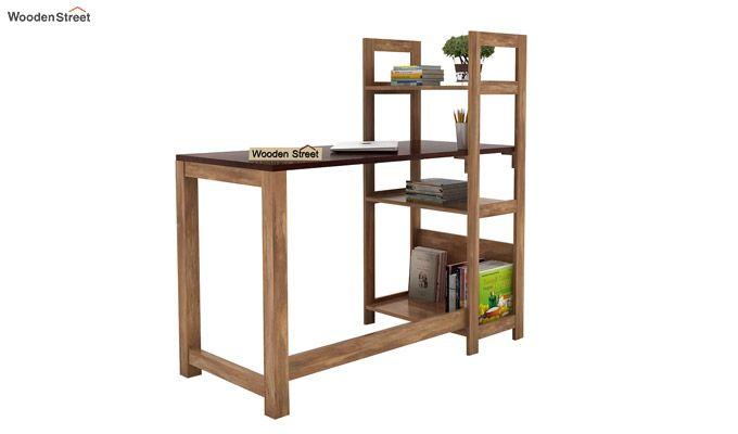 Michelle Study Desk Cum Bookshelf (Mahogany Finish)-3