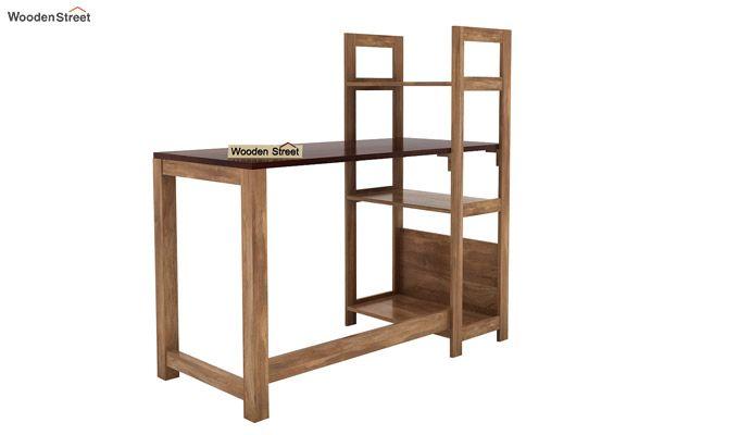 Michelle Study Desk Cum Bookshelf (Mahogany Finish)-4