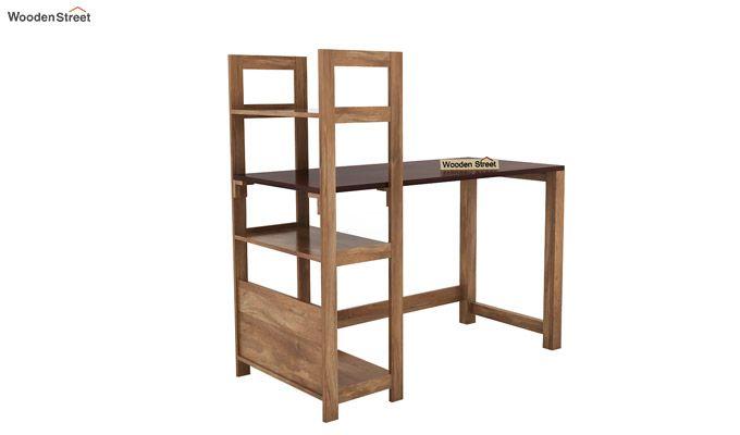 Michelle Study Desk Cum Bookshelf (Mahogany Finish)-5