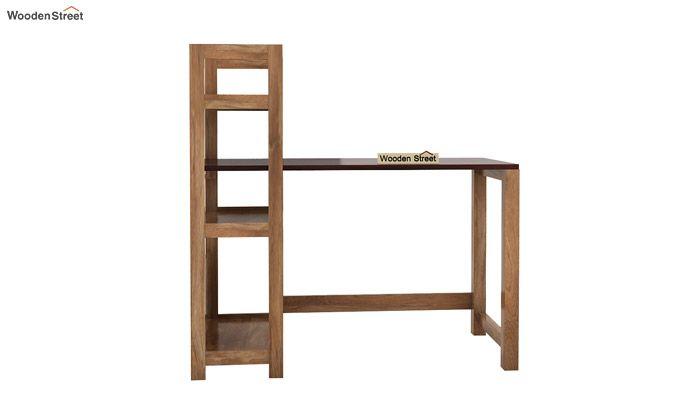 Michelle Study Desk Cum Bookshelf (Mahogany Finish)-6