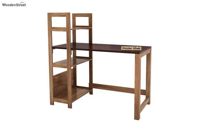 Michelle Study Desk Cum Bookshelf (Mahogany Finish)-7