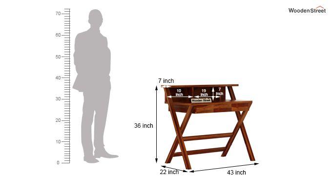 Murphy Study Table (Honey Finish)-6