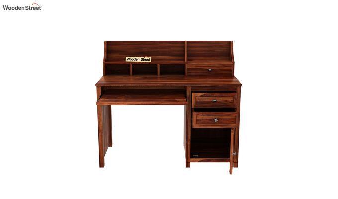 Nettle Study Table Cum Shelf (Honey Finish)-5
