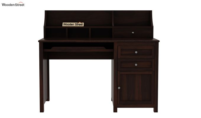 Nettle Study Table Cum Shelf (Walnut Finish)-3