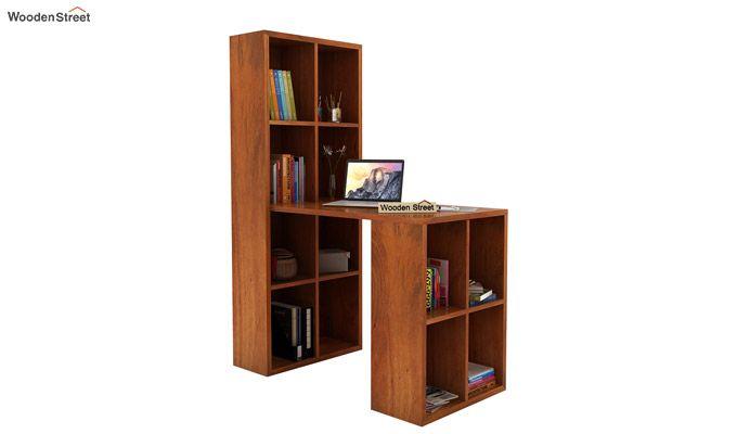 Otley Study Table With Shelf (Honey Finish)-1