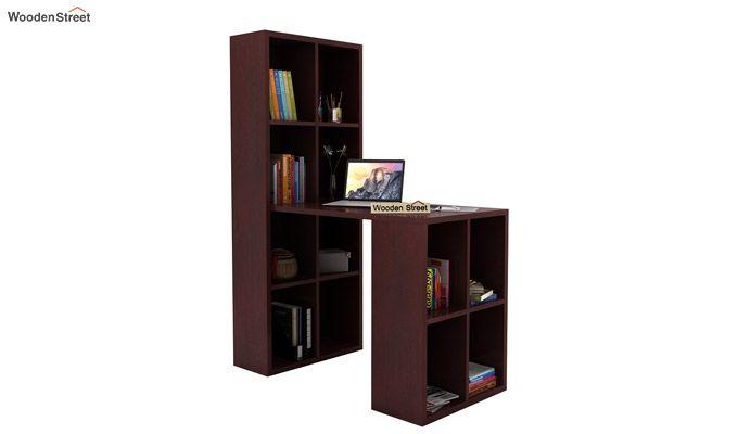 Otley Study Table With Shelf (Mahogany Finish)-1