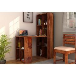 Otley Study Table With Shelf Sheesham Wood (Teak Finish)