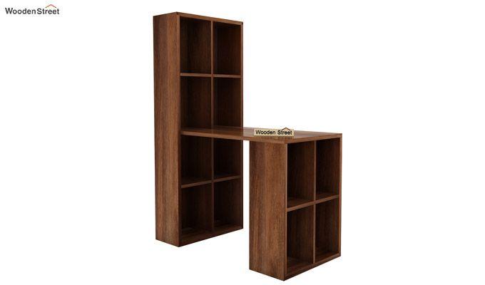 Otley Study Table With Shelf (Teak Finish)-2