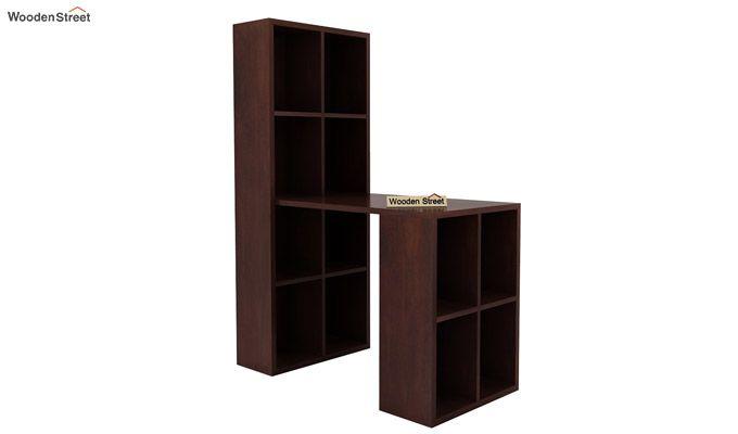 Otley Study Table With Shelf (Walnut Finish)-2