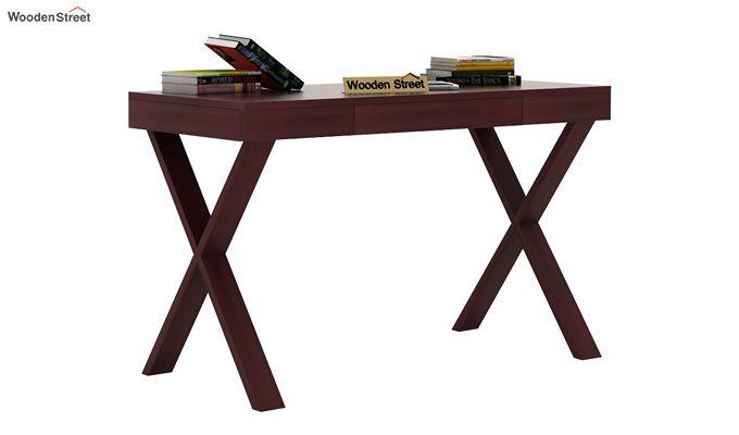 Poppy Solid Computer Desk (Mahogany Finish)-2