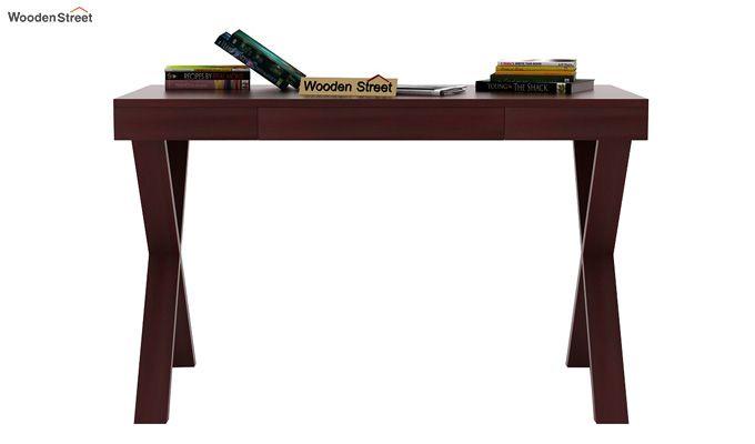 Poppy Solid Computer Desk (Mahogany Finish)-3