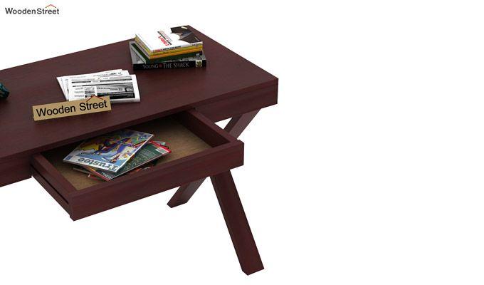 Poppy Solid Computer Desk (Mahogany Finish)-4