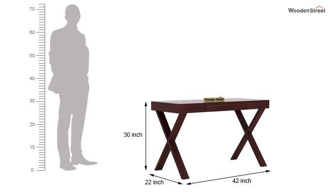 Poppy Solid Computer Desk (Mahogany Finish)-5