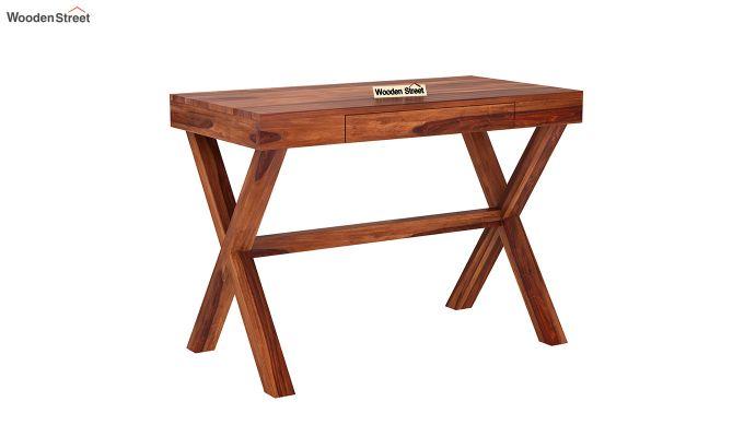 Poppy Solid Office Desk (Honey Finish)-2