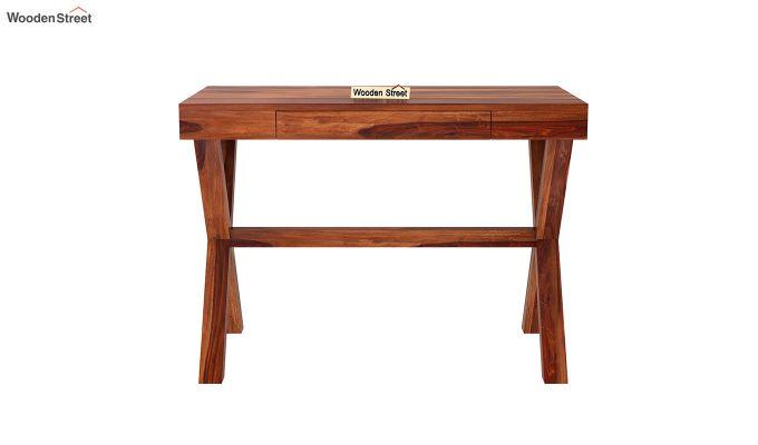 Poppy Solid Office Desk (Honey Finish)-3
