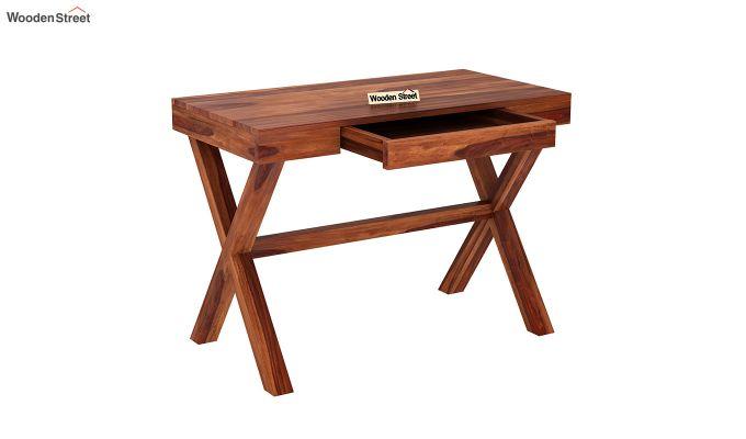 Poppy Solid Office Desk (Honey Finish)-4