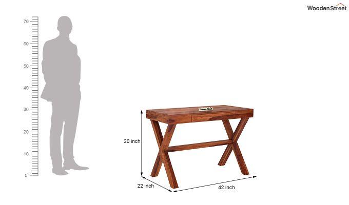 Poppy Solid Office Desk (Honey Finish)-5