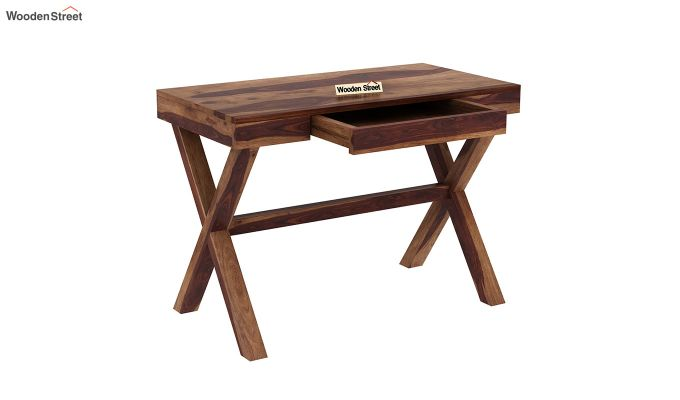 Poppy Solid Office Desk (Teak Finish)-4