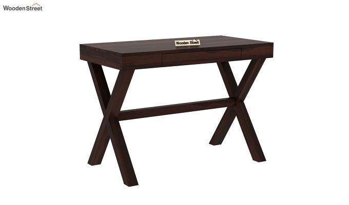 Poppy Solid Computer Desk (Walnut Finish)-2
