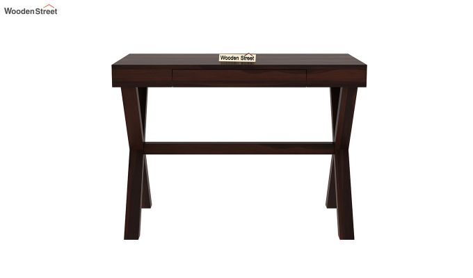 Poppy Solid Computer Desk (Walnut Finish)-3
