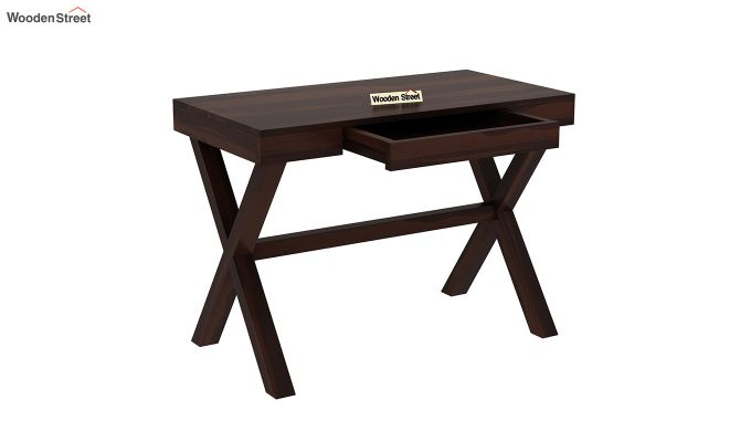 Poppy Solid Kids Computer Desk (Walnut Finish)-4