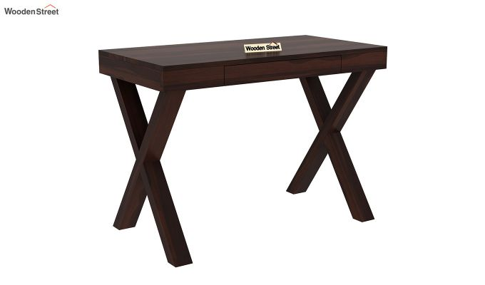 Poppy Solid Computer Desk (Walnut Finish)-2