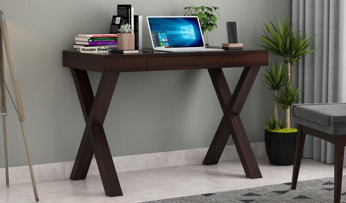 Poppy Solid Computer Desk (Walnut Finish)-1