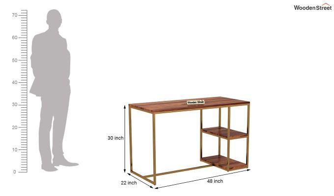 Porter Study Table (Honey Finish)-4
