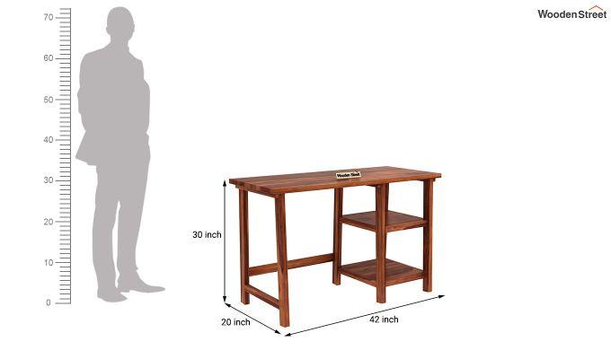 Renaker Study Desk (Honey Finish)-4