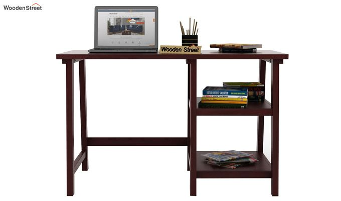 Renaker Study Desk (Mahogany Finish)-3