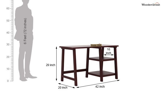 Renaker Study Desk (Mahogany Finish)-6