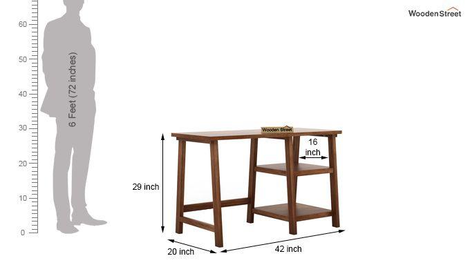 Renaker Study Desk (Teak Finish)-5