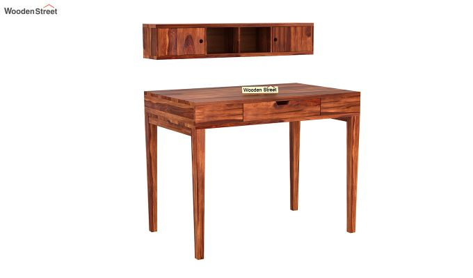 Rizzel Study Table With Shelf (Honey Finish)-5