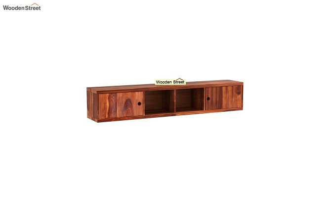 Rizzel Study Table With Shelf (Honey Finish)-6