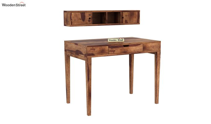 Rizzel Study Table With Shelf (Teak Finish)-5