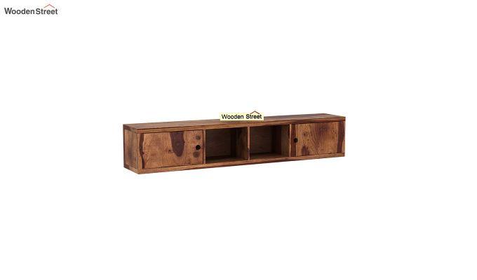 Rizzel Study Table With Shelf (Teak Finish)-6