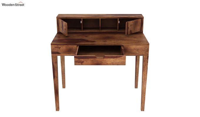 Rizzel Study Table With Shelf (Teak Finish)-7