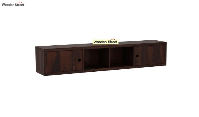 Rizzel Study Table With Shelf and Metal Legs (Walnut Finish)-7